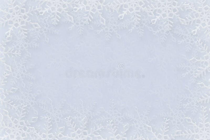 Fundo dos flocos de neve fotografia de stock