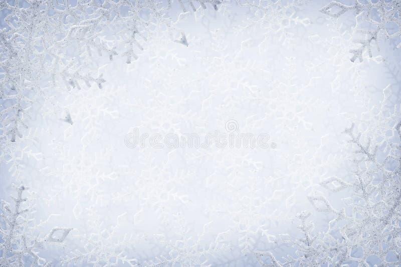 Fundo dos flocos de neve imagens de stock royalty free