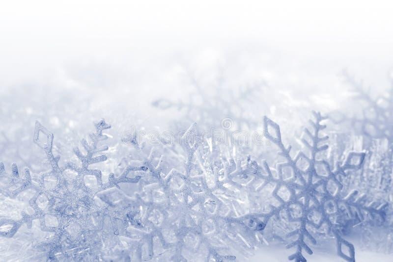 Fundo dos flocos de neve foto de stock