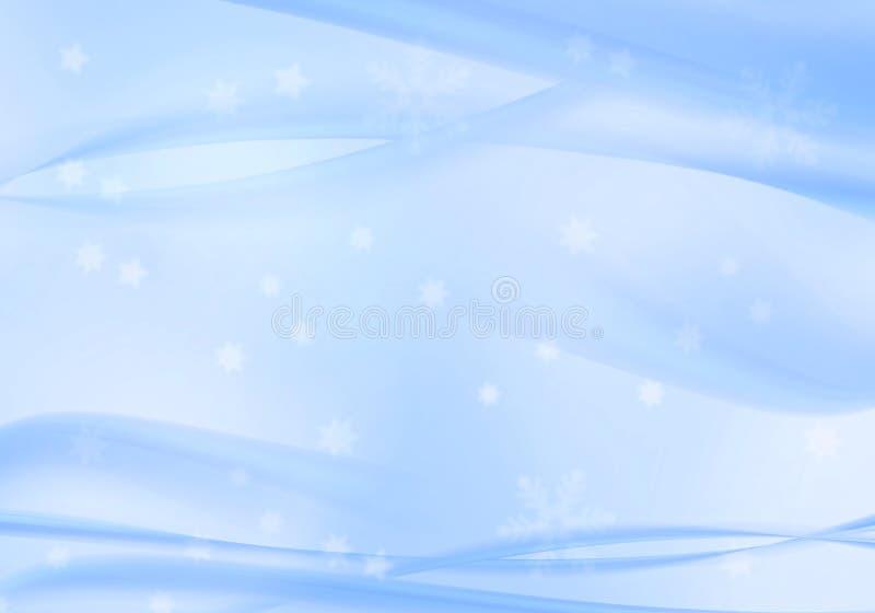 Fundo dos flocos de neve do inverno ilustração do vetor