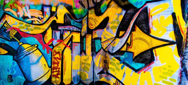 Fundo dos grafittis foto de stock