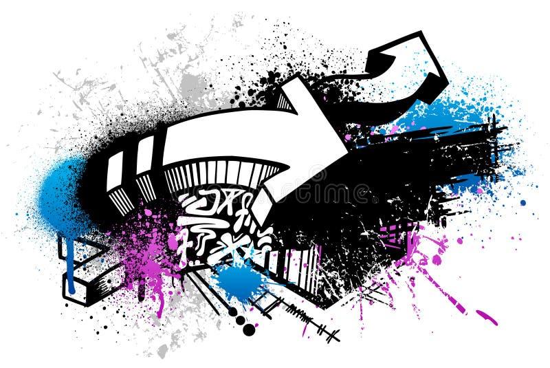 Fundo dos grafittis ilustração do vetor