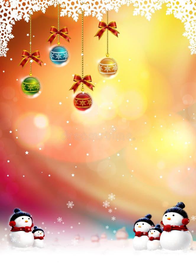 Fundo dos mythos do Natal ilustração stock