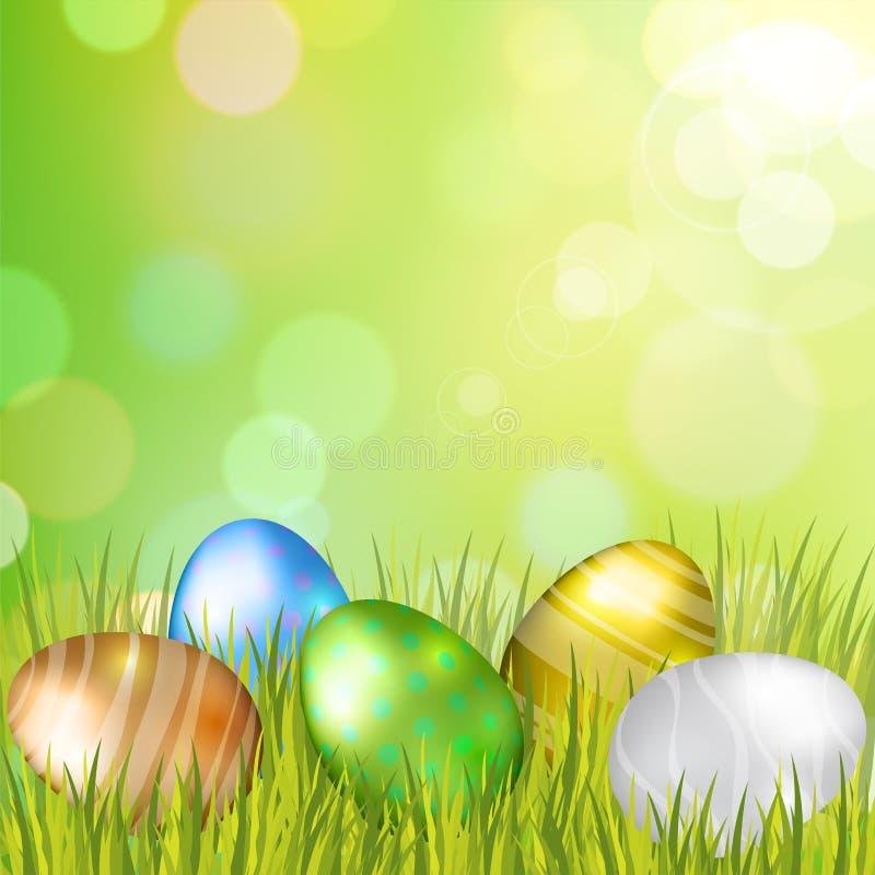 Fundo dos ovos da páscoa ilustração royalty free