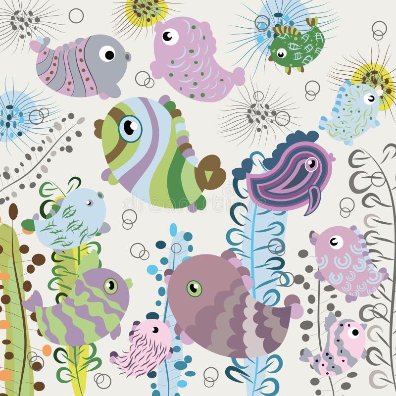 Fundo dos peixes ilustração royalty free