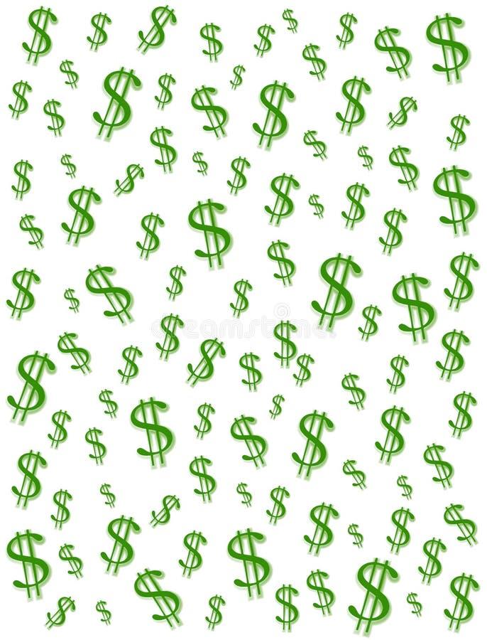 Fundo dos sinais de dólar do dinheiro ilustração do vetor