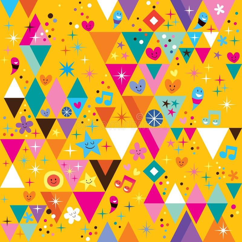 Fundo dos triângulos do divertimento ilustração do vetor