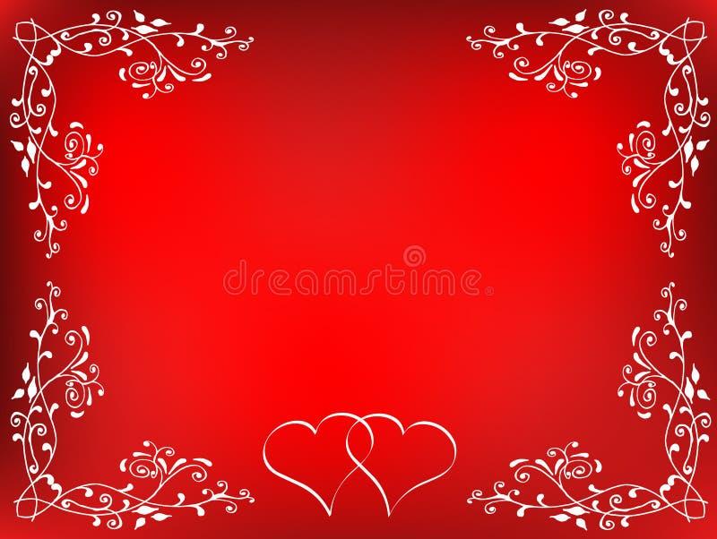 Fundo dos Valentim ilustração stock
