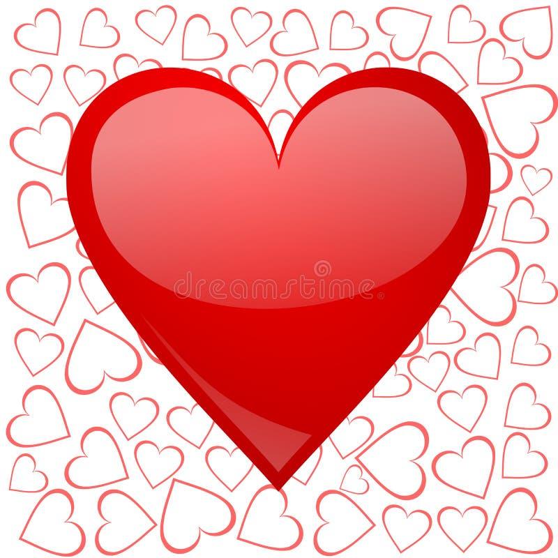 Fundo dos Valentim com coração ilustração stock