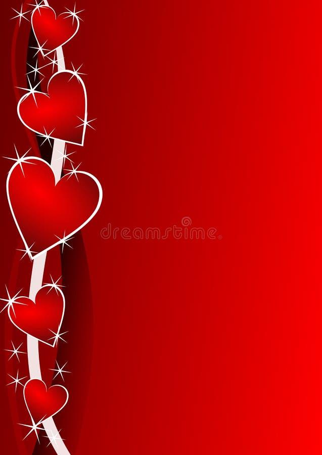 Fundo dos Valentim com corações ilustração stock