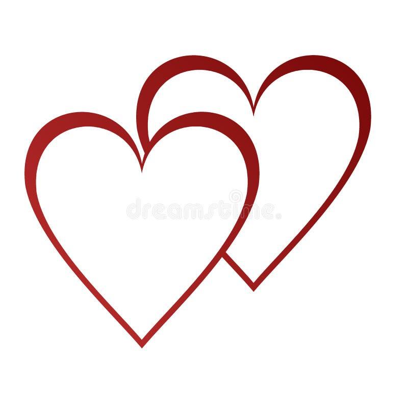 Fundo dos Valentim com corações ilustração royalty free