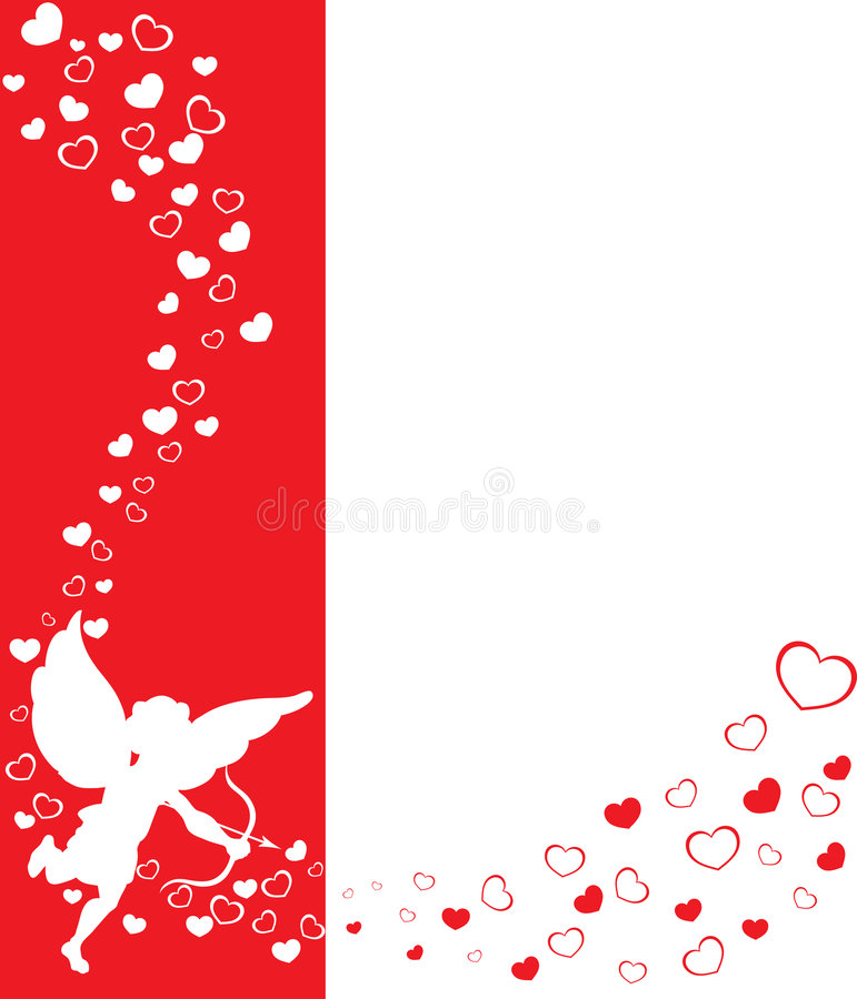 Fundo dos Valentim do Eros ilustração royalty free