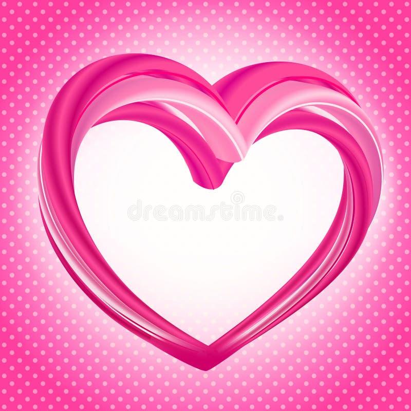 Fundo dos Valentim, forma cor-de-rosa abstrata do coração ilustração royalty free