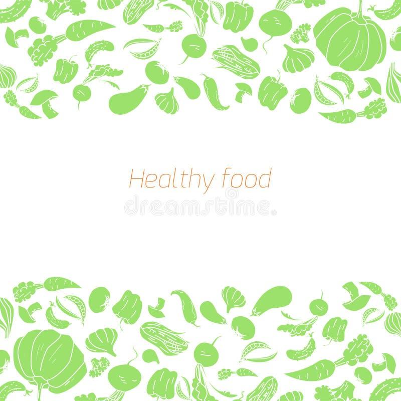 Fundo dos vegetais do verde do placeholder do texto ilustração royalty free