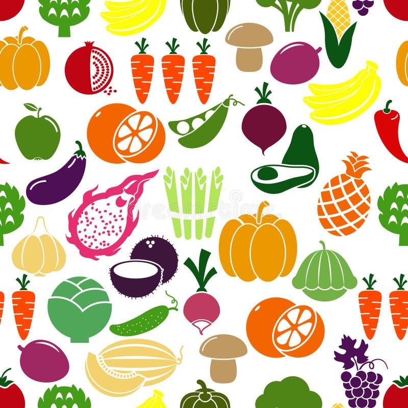 Fundo dos vegetais e dos frutos ilustração do vetor