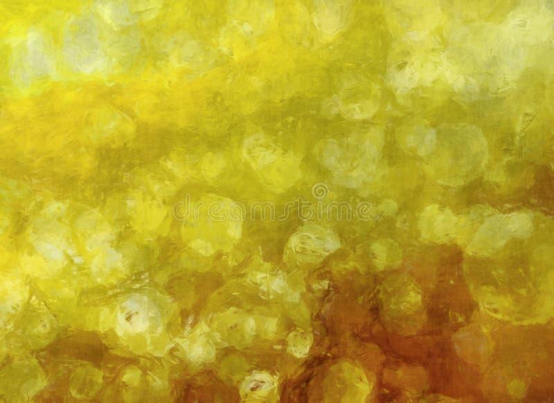 Fundo dourado abstrato ilustração stock