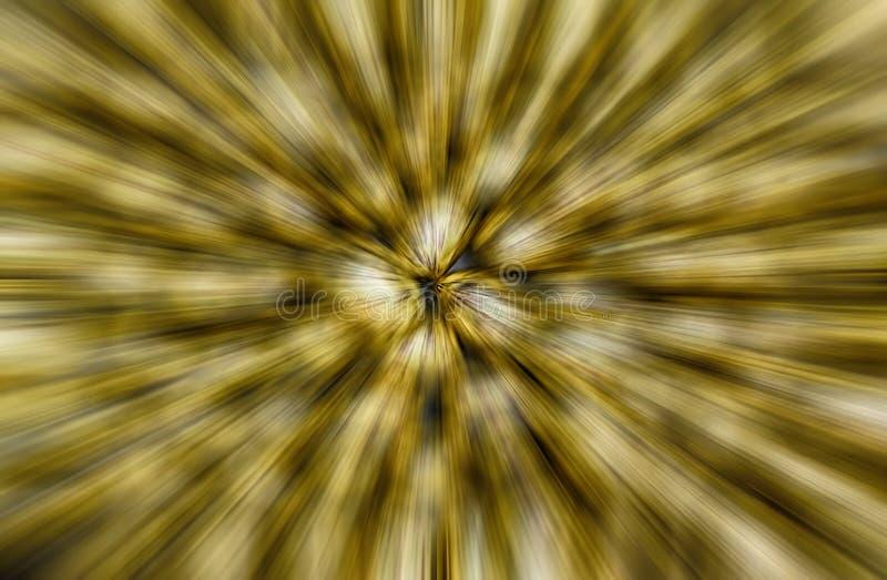 Fundo dourado abstrato do borrão do zumbido ilustração do vetor