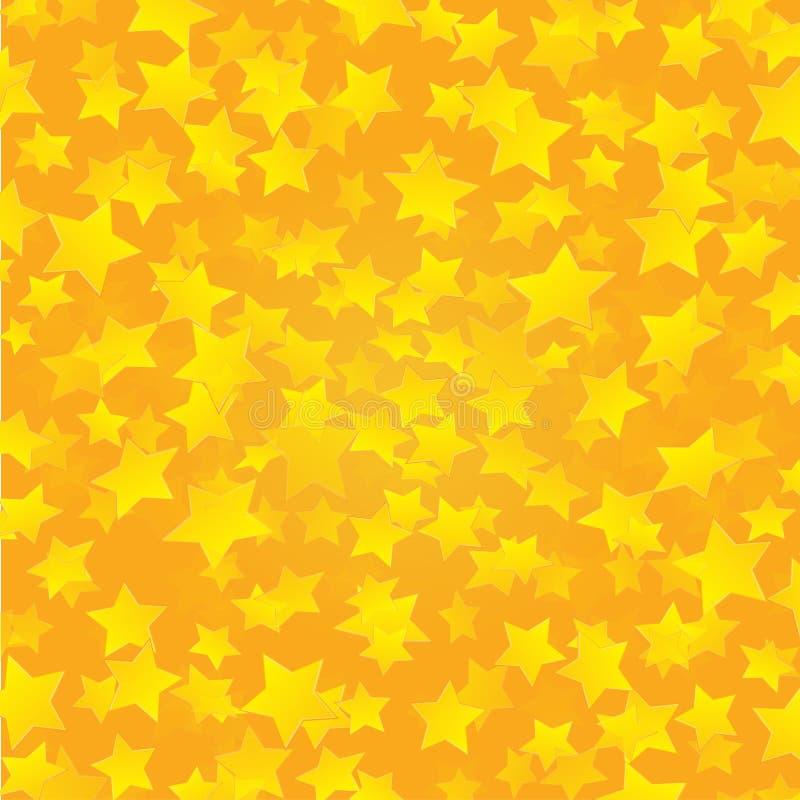 Fundo dourado amarelo das estrelas ilustração stock