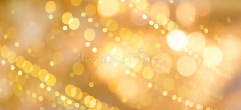 Fundo dourado bonito do feriado ilustração stock