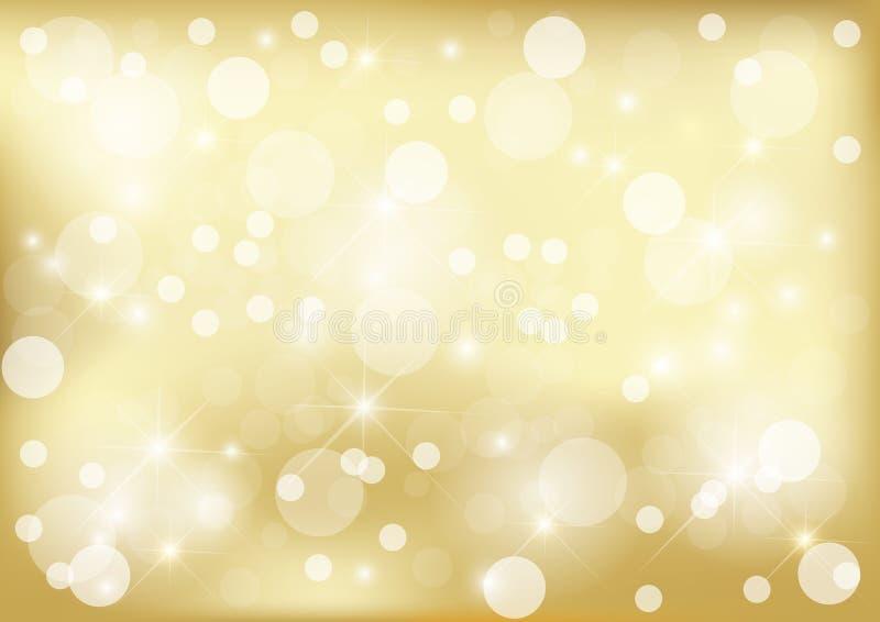 Fundo dourado brilhante do ponto ilustração do vetor