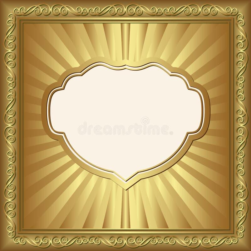Fundo Dourado Fotos de Stock Royalty Free