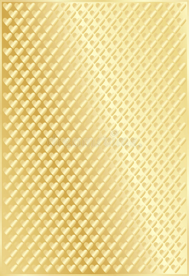 Fundo dourado com Valentim ilustração royalty free