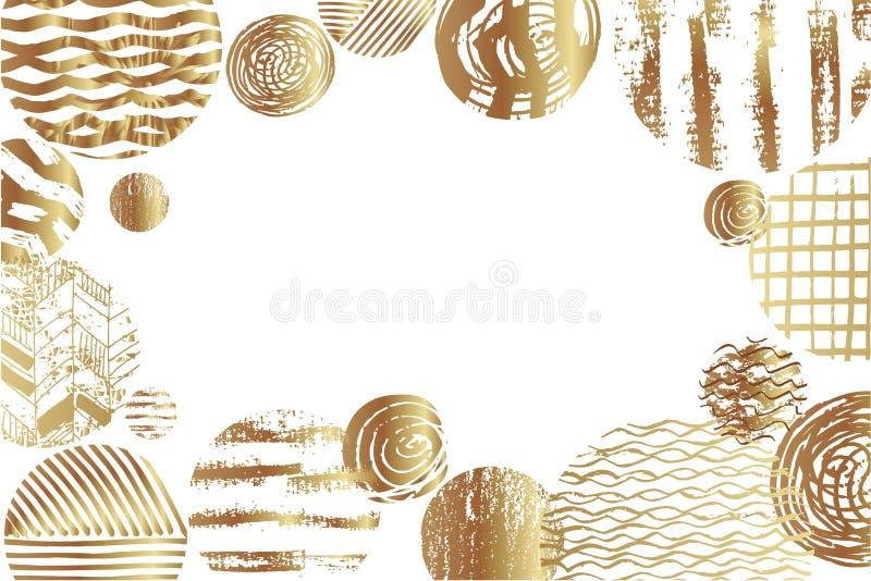 Fundo dourado da arte ilustração do vetor