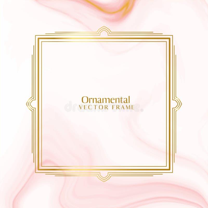 Fundo dourado decorativo decorativo bonito do quadro ilustração stock