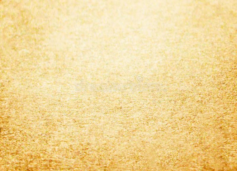 Fundo dourado do brilho do ano novo do Natal Tela abstrata da textura do feriado Elemento, flash fotografia de stock royalty free