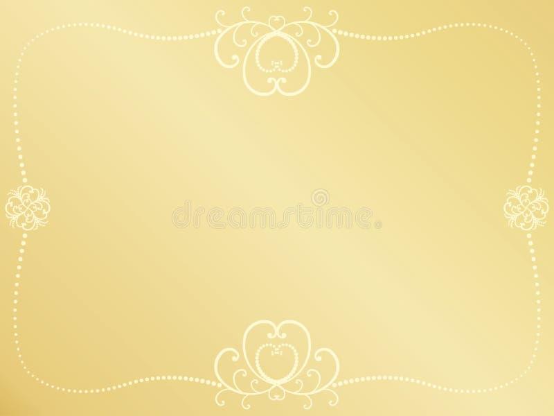 Fundo dourado do dia de Valentim ilustração stock