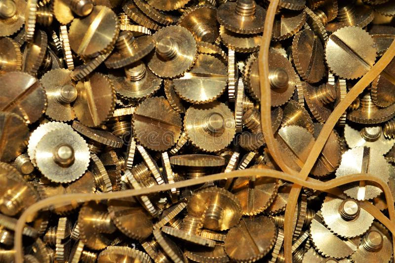 Fundo dourado do ferro, fundo da construção imagem de stock royalty free