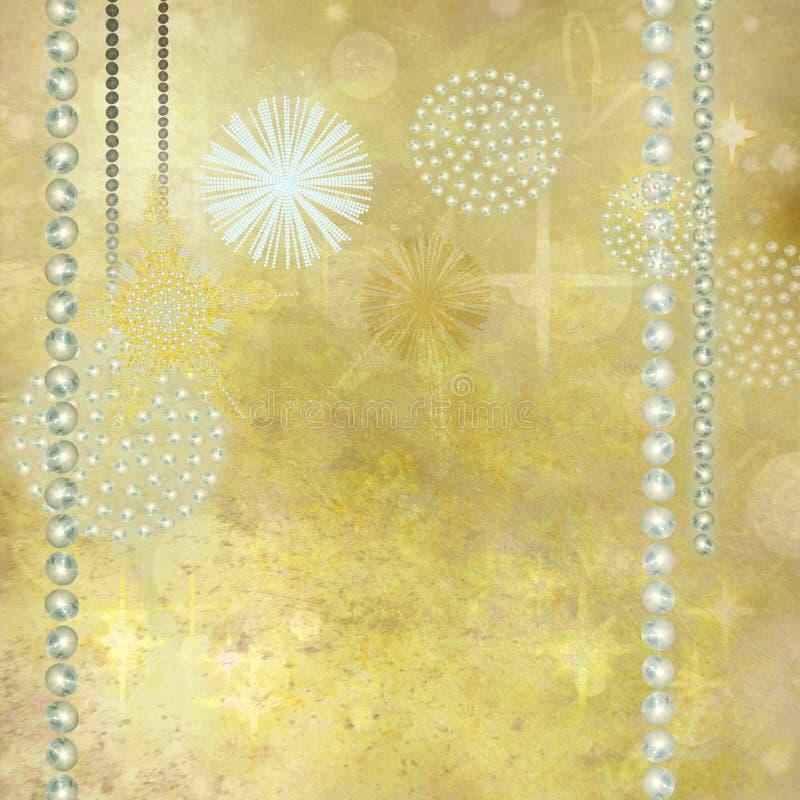 Fundo dourado do Natal ilustração royalty free