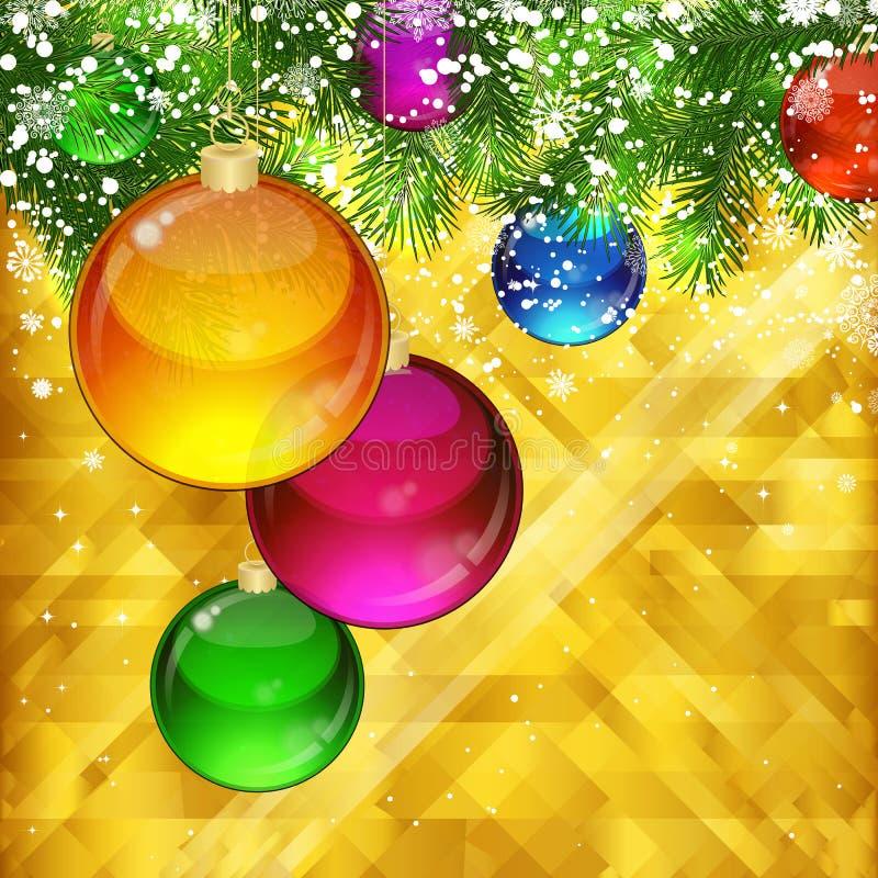 Fundo dourado do Natal ilustração stock