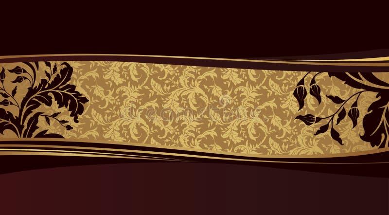 Fundo dourado do projeto. ilustração stock