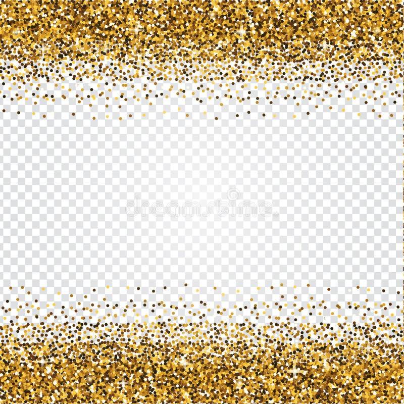 Fundo dourado do sumário do brilho Contexto brilhante do ouropel Luxur ilustração royalty free