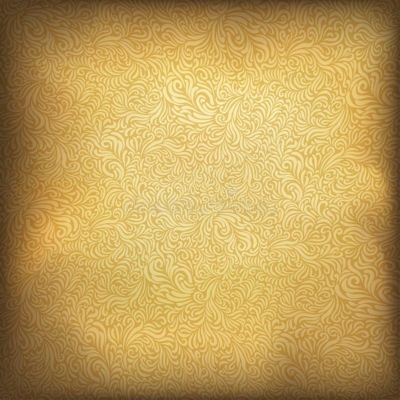 Fundo dourado do vintage. ilustração do vetor