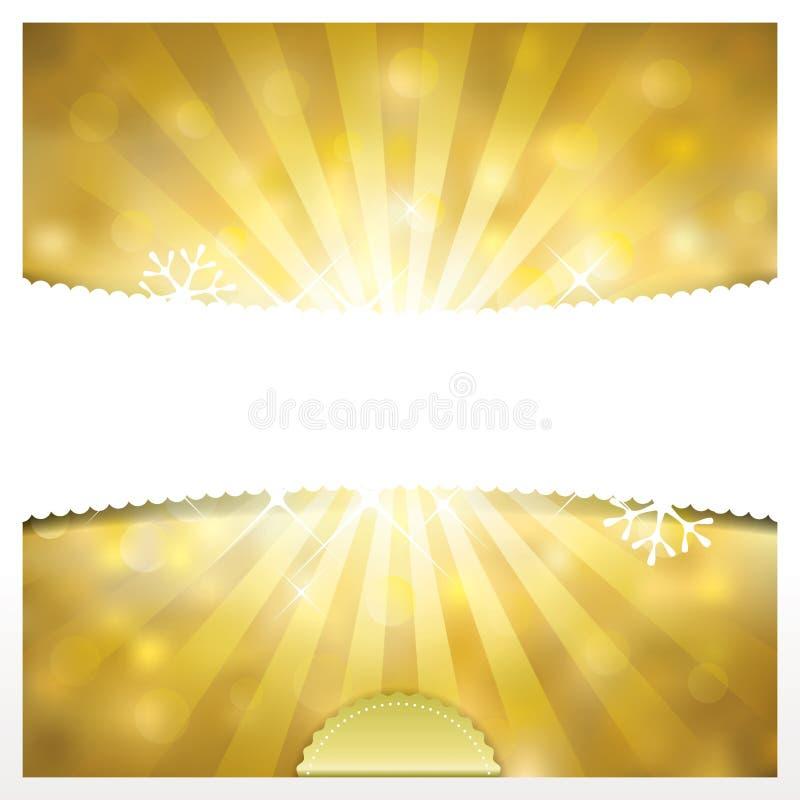 Fundo dourado dos feriados ilustração stock