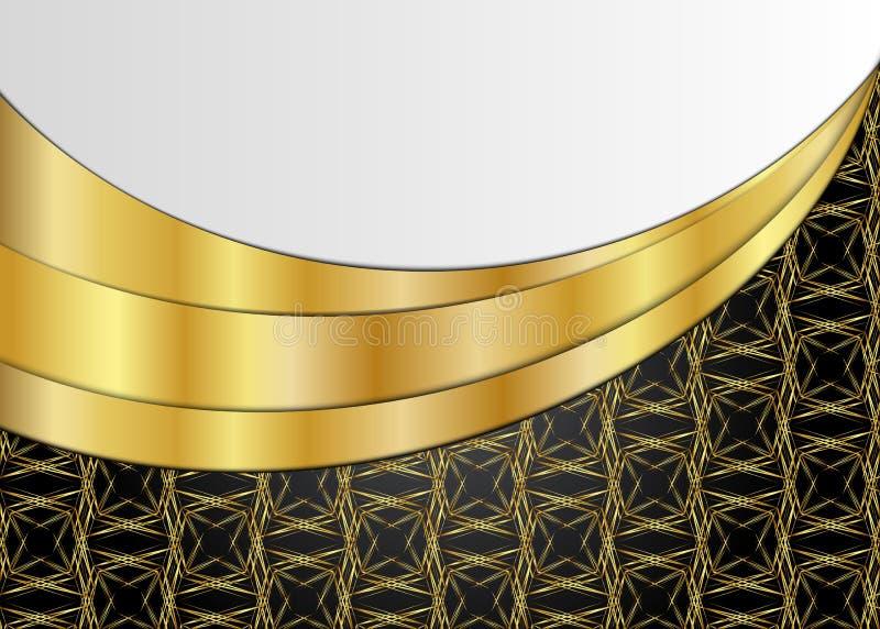 Fundo dourado e escuro do vintage placa para a mensagem ou o texto ilustração royalty free