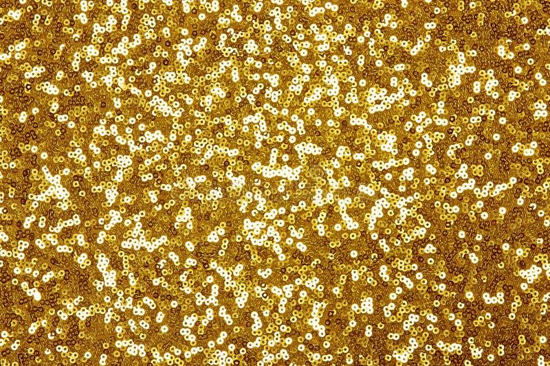 Fundo dourado efervescente de matéria têxtil da lantejoula ilustração do vetor