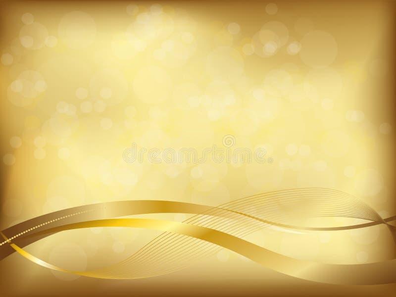 Fundo dourado elegante ilustração stock