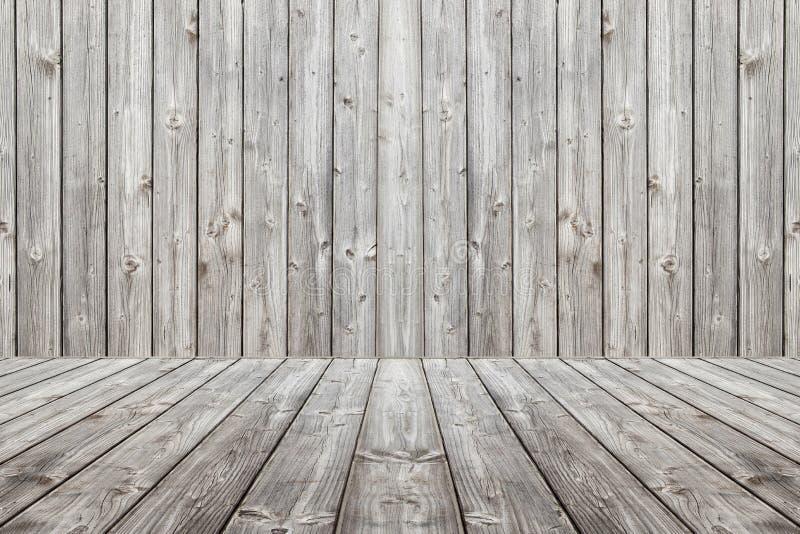 Fundo e assoalho de madeira da cena Placas cinzentas de madeira da caixa imagens de stock