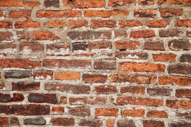 fundo e conceito da textura - fim acima da parede velha do tijolo fotografia de stock royalty free