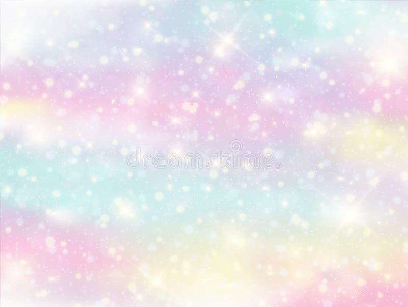 Fundo e cor pastel da fantasia da galáxia ilustração do vetor