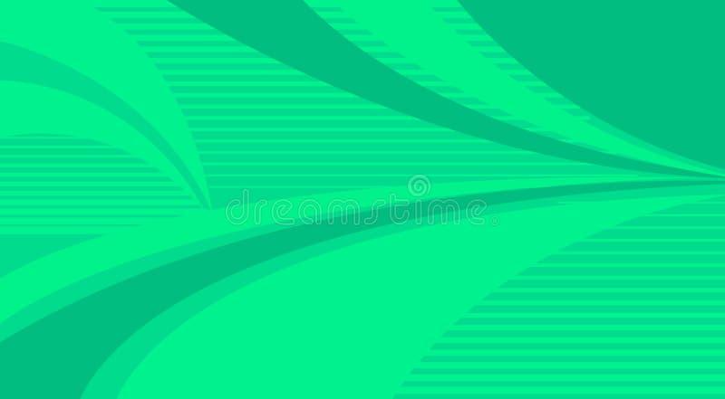 Fundo e curvas verdes da listra ilustração royalty free