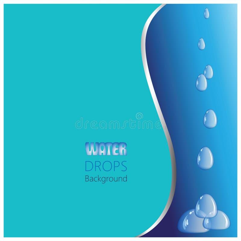 fundo e gotas Turquesa-azuis ilustração stock
