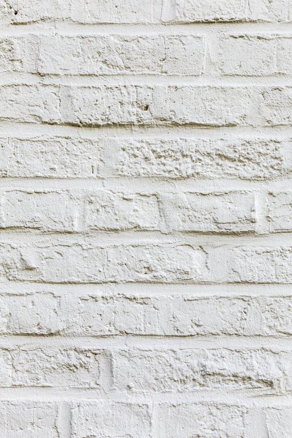 Fundo e textura brancos do tijolo da cor foto de stock