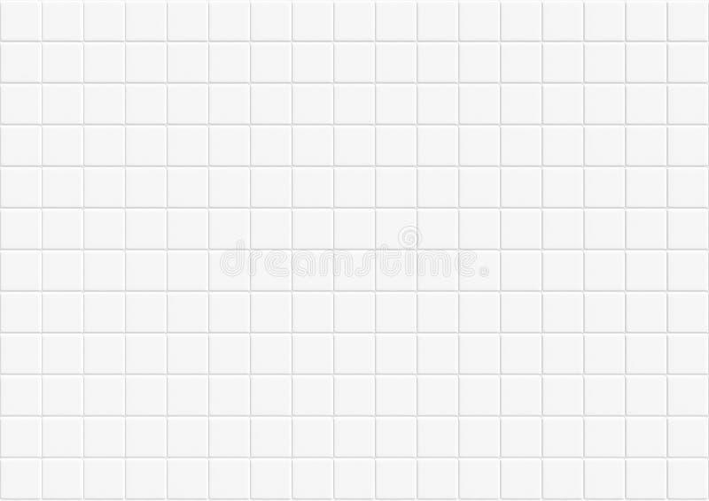 Fundo e textura de ladrilhos de concreto branco e abstrato moderno padrão de cubo de mosaico cerâmico quadrado para alta resoluçã ilustração stock