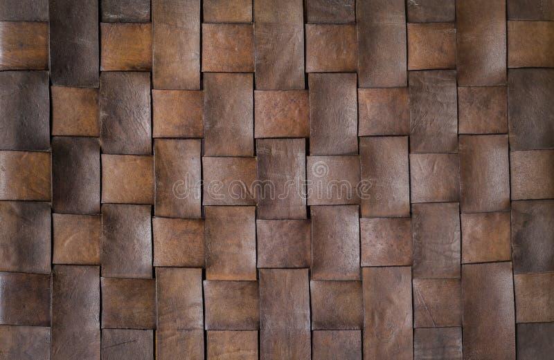 Fundo e textura do couro do weave imagem de stock royalty free