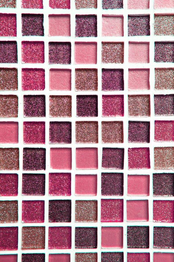 Fundo e textura quadrados abstratos da parede do mosaico do pixel imagem de stock royalty free