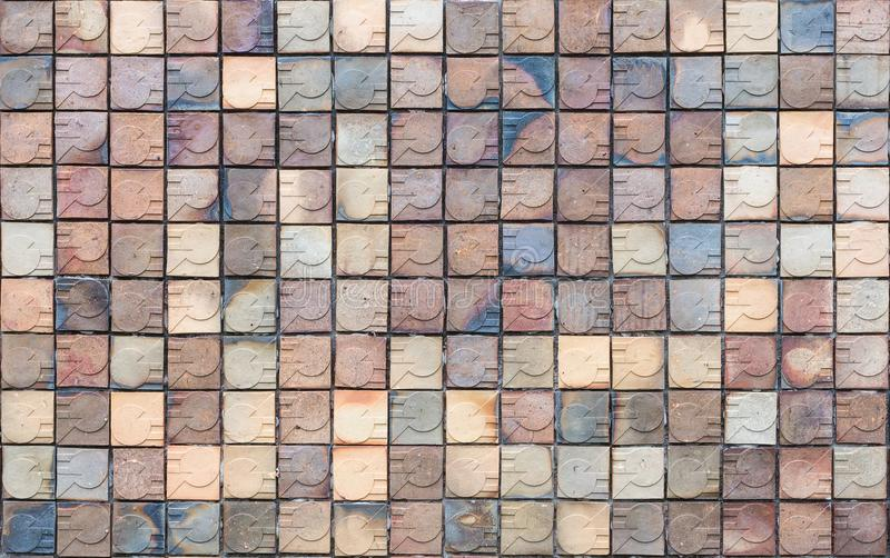 Fundo e textura quadrados abstratos da telha foto de stock